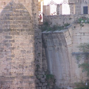 Puente de Ronda detalle antiguo arranque