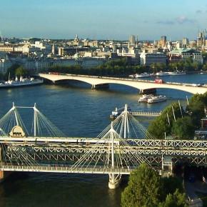 Puente Hungerford Golden Jubilee Londres