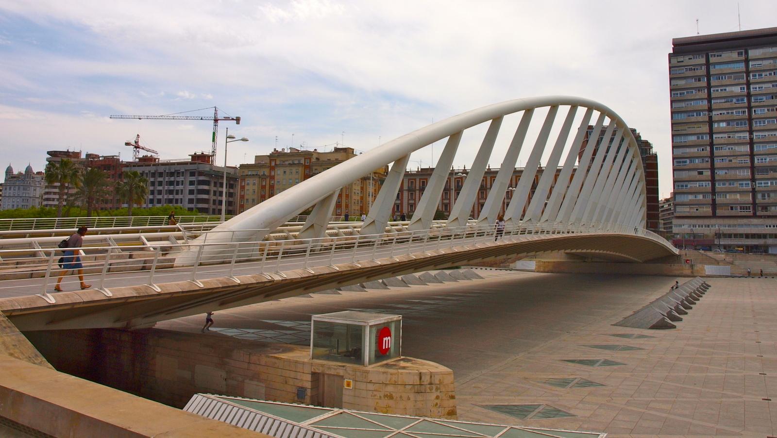 Puente de la alameda valencia calatrava for Piscina de valencia alameda