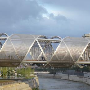 Vídeo sobre la construcción de la pasarela de la Arganzuela, en Madrid